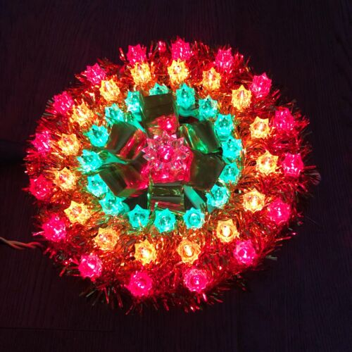 Holiday Essence 50 Light Multi Color Tree Topper In Box Extra Bulbs