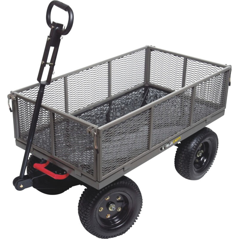 Gorilla Carts Heavy-Duty Multi-Use Steel Garden Cart- 1200-Lb Cap