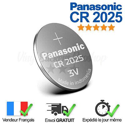 1 Pile Lithium CR2025 Panasonic 3V Télécommande, Calculatrice, Chronomètre, Led
