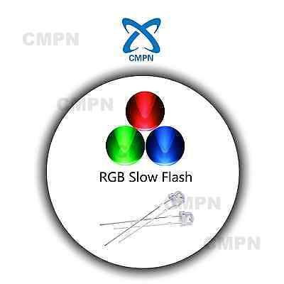 100Pcs 5mm Straw Hat RGB Slow Flash LED Light Emitting Diode Clear Bright Lights - Led Hats Wholesale