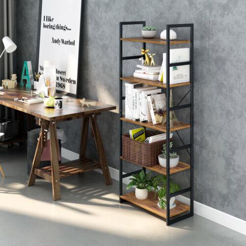 5-Tier Bookshelf Standing Books Plants Holder Storage Organi