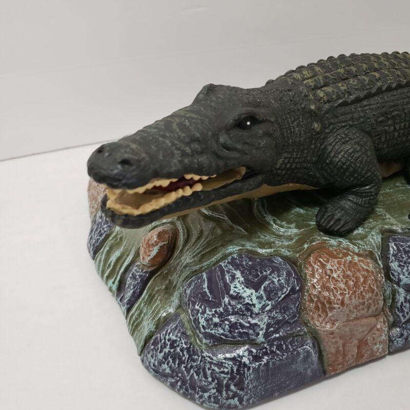 Vintage Motion Controlled Animated Singing Alligator Rare Endangered Half Works
