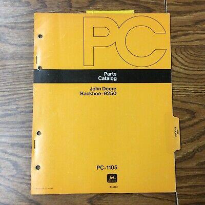 John Deere Jd 9250 Backhoe Parts Manual Catalog Book List Tractor Guide Pc-1105