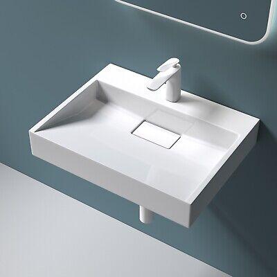 Gussmamor Hängewaschbecken Waschbecken 50x38cm Waschtisch Waschplatz Aufsatz