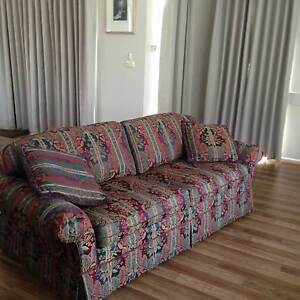 'MORAN' large 3 seater sofa bed, with arm protectors Ocean Grove Outer Geelong Preview
