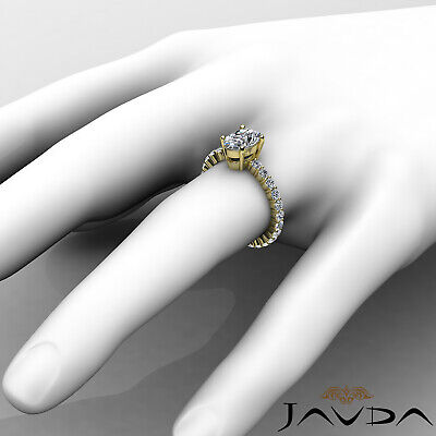 Shared Prong Oval Shape Natural Diamond Engagement Eternity Ring GIA F VS2 1.8Ct 9