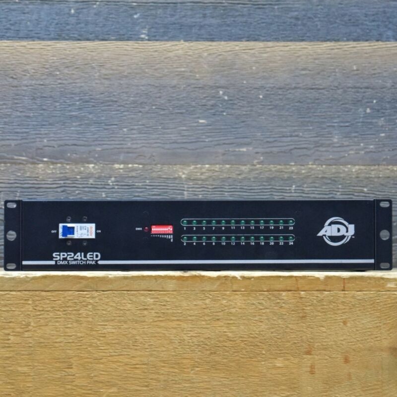 ADJ SP24LED DMX Switch Pack 24-Channel Rackmountable Switch Pack with DMX In/Out