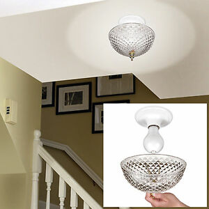 Clip on Light Shade | eBay:Hampton Direct Ceiling Clip On Diamond Cut Acrylic Dome Light Shade Bulb  Fixture,Lighting