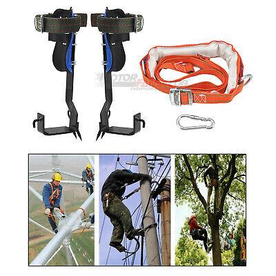 Tree Climbing Climbers Tool Spike Hooks 2 Gears With Protective Belt Us Stock