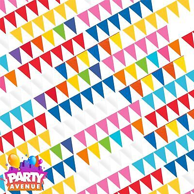 Solid Colour Theme Birthday Wedding Pennant Banners Celebration