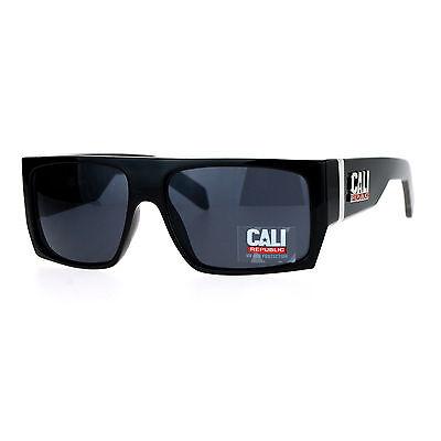 Cali Republic Sunglasses Mens Fashion Shades Square Flat Top Frame UV (Cali Sunglasses)