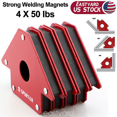 4pcs 4-inch 50lbs Welding Magnets Metal Working Mig Tools Equipment Arrow Welder
