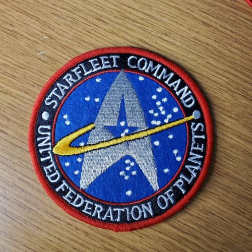 Star Trek Starfleet Command United Federation Of Planets Swoosh Patch 4 inches