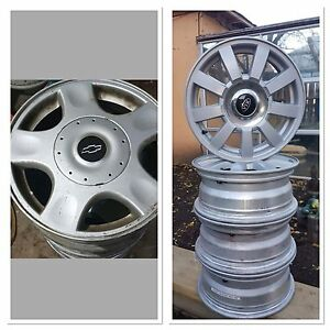 4 alloy rims -2 sets 15""