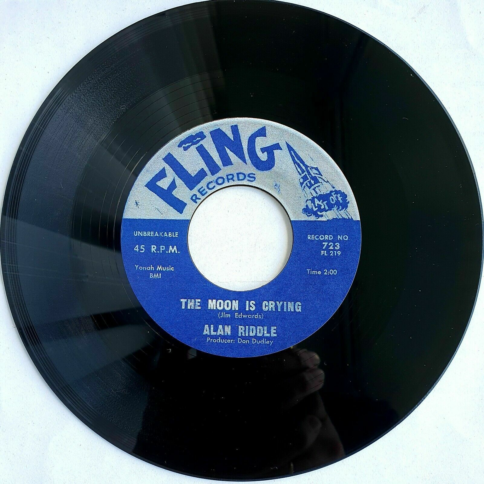 Alan Riddle The Moon Is Crying  /Buddy Skipper    Rockabilly  45rpm