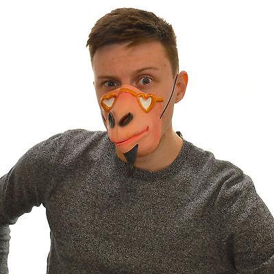 Half Face Beard Monkey Funny Fancy Dress Latex Mask For Kids & Adults Halloween - Funny Halloween Masks For Kids