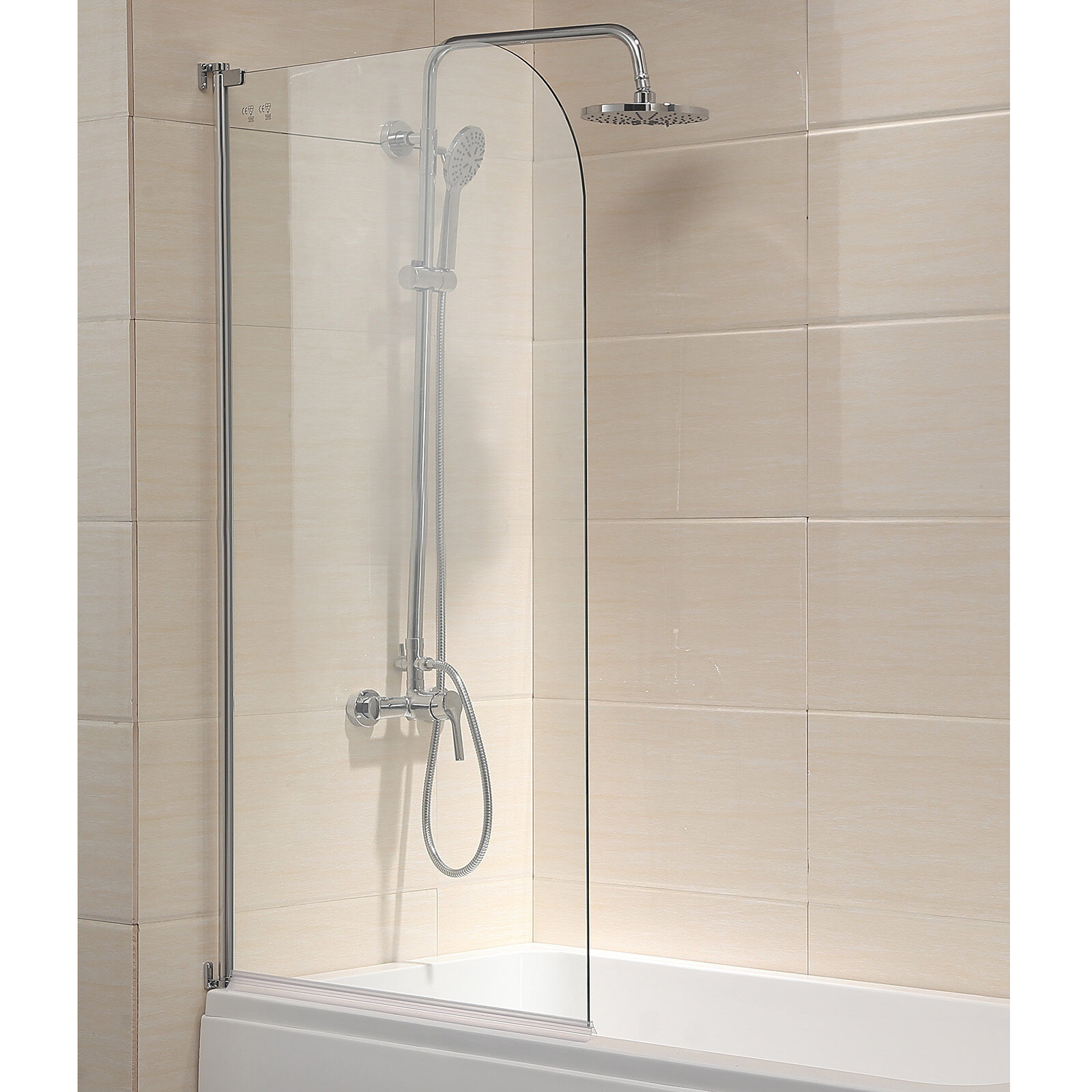 "55""X31"" Bath Shower Door 1/4"" Clear Glass Pivot Radius"