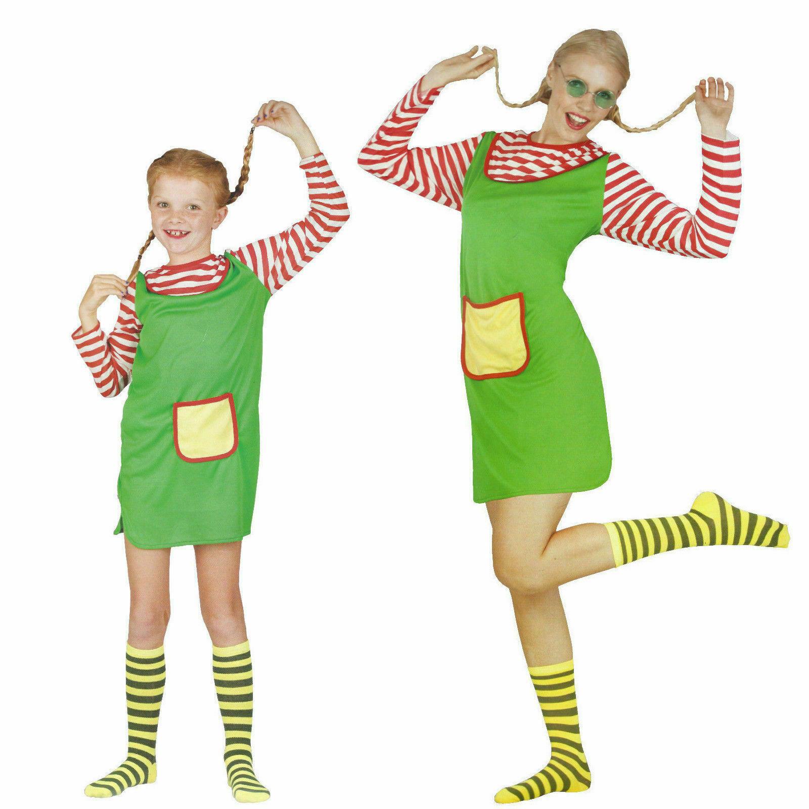 Freche Göre Karneval Kostüm Fasching Verkleidung Kleid Strümpfe Mädchen Damen