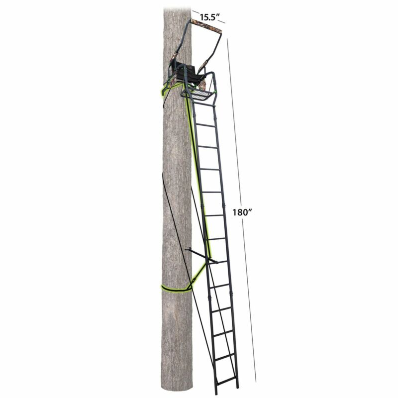 Realtree Deluxe Single Man Tree Stand For Deer Hunting