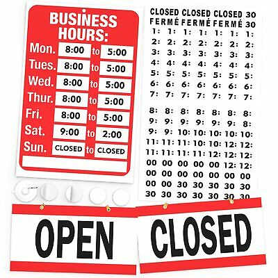 Open Closed And Business Hours Sign Kit Display Your Store Hours Of Operation