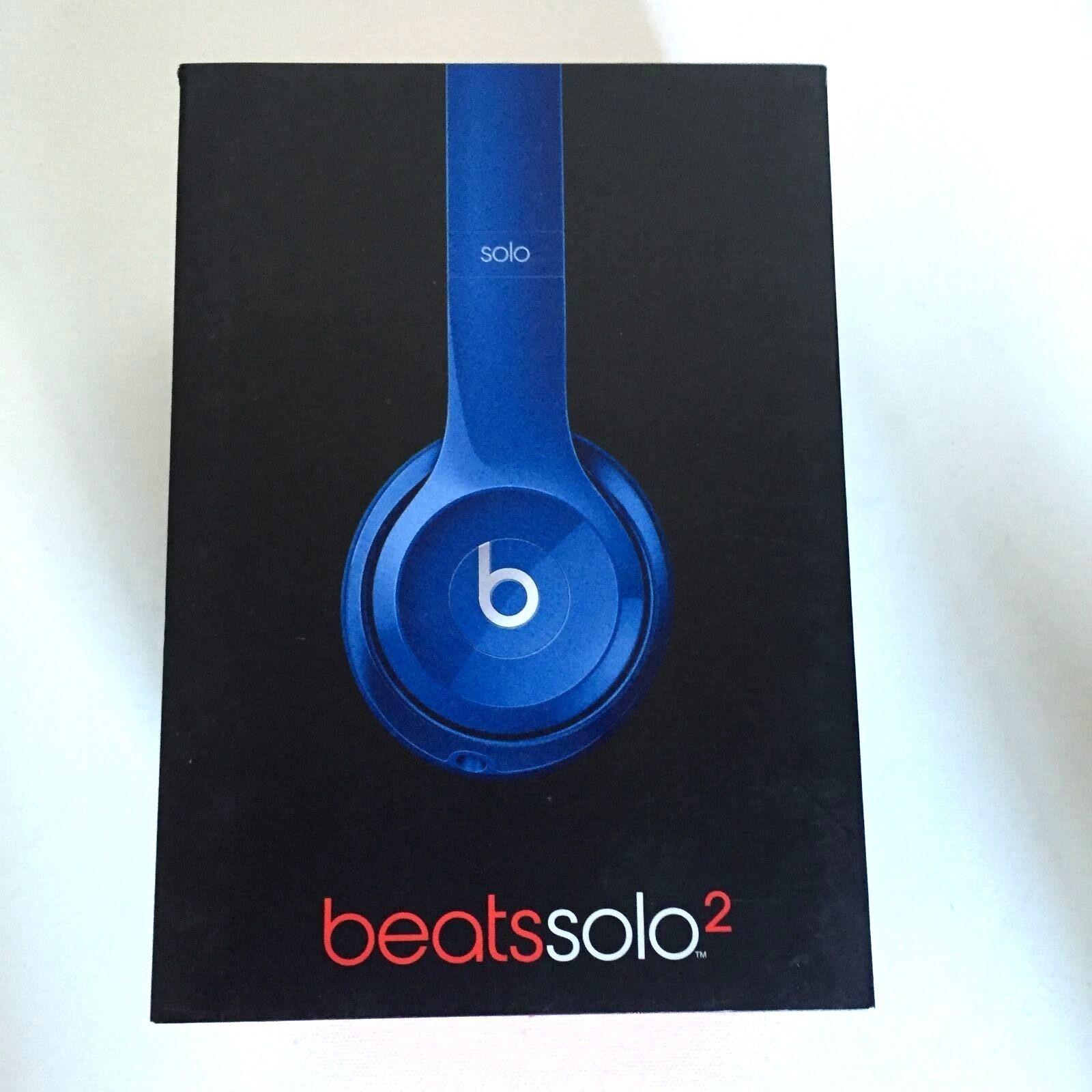 6a48b0b7382 New Beats Solo 2 By Dr Dre HD Wired On Ear Headphones -Blue Reviews ...