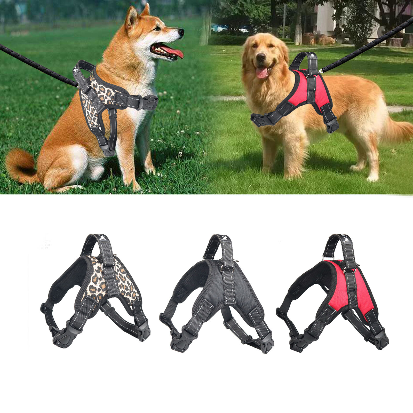 No Pull Harness Dog Pet Adjustable Vest Dogs Reflective Black Red M L XL XXL Dog Supplies