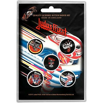 Judas Priest pack of 5 round pin badges (ro)