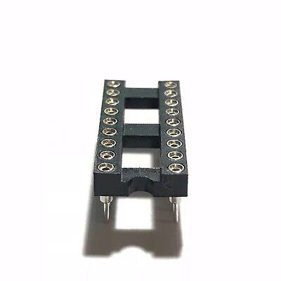 5pcs Ic Sockets Dip-18 Machined Round Contact Pins Holes 2.54mm Dip18 Dip 18