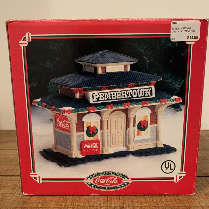 Coca-Cola~ American Classics Collection~ PEMBERTOWN~TheTrain Depot ~57004~EUC