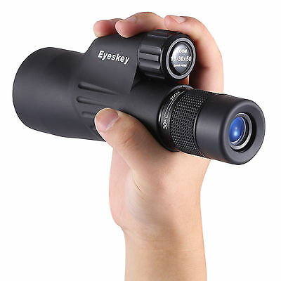 New 10-30x50 Zoom Monocular w/ Tripod Waterproof High Power Mini Spotting Scope