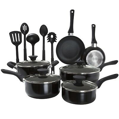 15 Pc Long Lasting Nonstick Induction Ready Cookware Pots and Pans Set Skillet