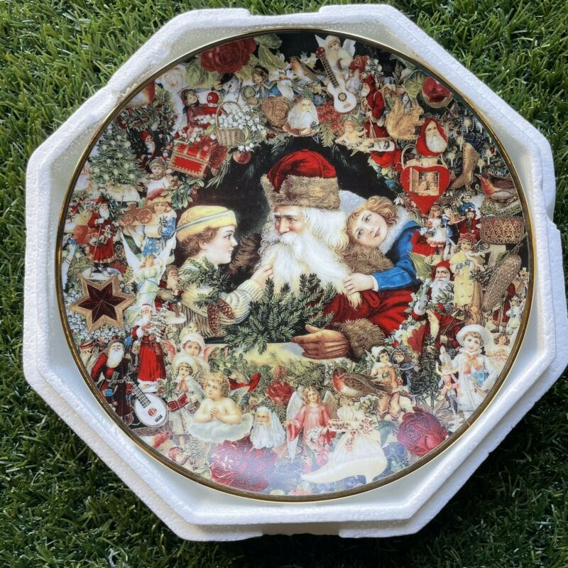"Victorian Santa ""A Visit From St. Nicholas"" plate by John Grossman 8.25"""