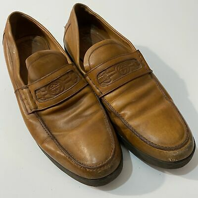 Vintage Men's GUCCI Camel Tan Slip On Loafers Dress Shoes Size 8.5