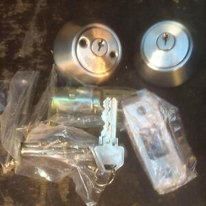 Deadbolt 2 cylinder KA Lane satin Nickle (pair) Bayswater Bayswater Area Preview