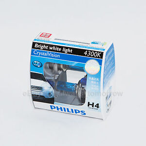 PHILIPS H4 Crystal Vision 4300K with Parking Lights