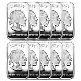 American Buffalo 1oz .999 Fine Silver Bar LOT OF 10