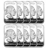 American Buffalo 1oz .999 Fine Silver Bar by SilverTowne LOT OF 10