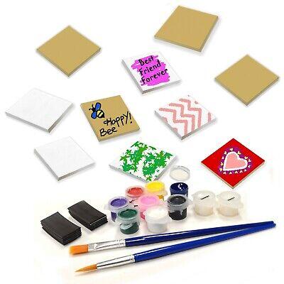 Paint Your Own (VHALE 10 Set Paint Your Own Magnetic Fiberboard Tile Art Fridge & School)