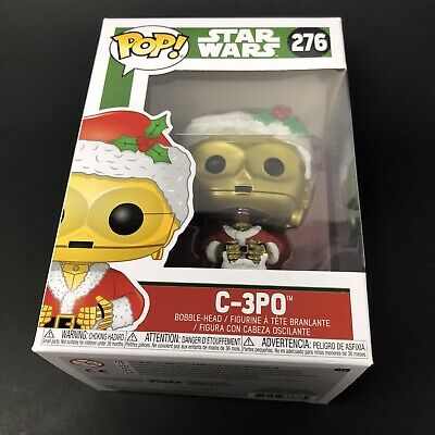 Funko Pop Star Wars C-3PO Santa #276 Christmas Figure 2018