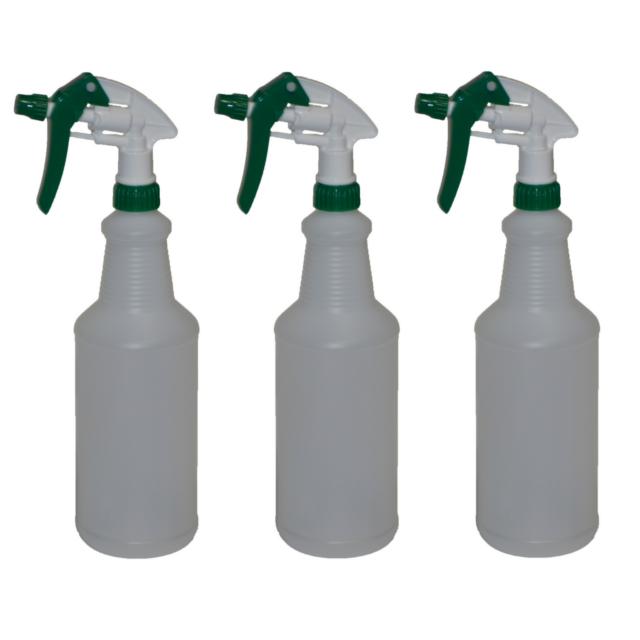 empty spray bottles plastic heavy duty commercial sprayers 32oz w filters x3