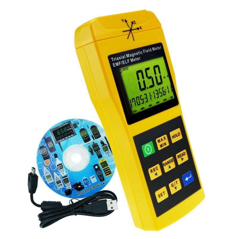 Mini Triple Axis 2000Hz EMF ELF Trifield Electromagnetic Field Detector Tester