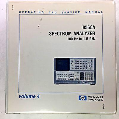 Hp 8568a Spectrum Analyzer Operating Service Manual Volume 4 Pn 08568-90012
