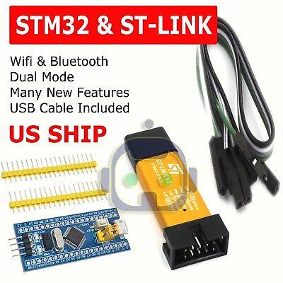 Stm32f103c8t6 Arm Stm32 Dev Development Board Module Blue Pill W St-link V2 Usa