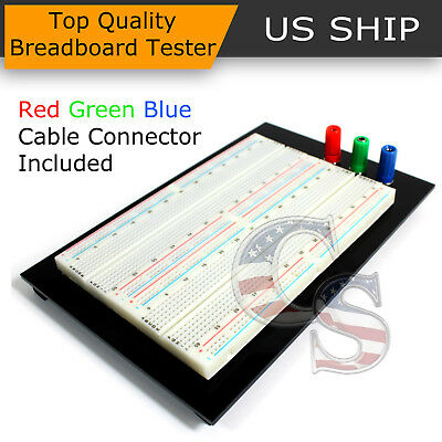 Solderless Breadboard Protoboard Tp Tie-point 1610 Hole Pcb Prototype Board Us