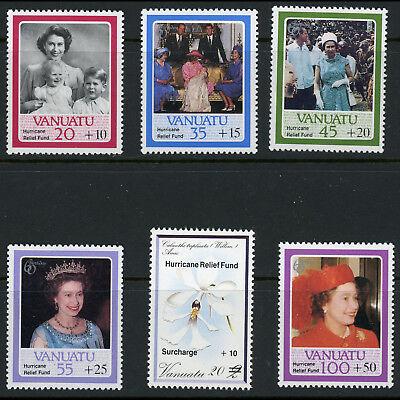 VANUATU 1987 Hurricane Relief Overprints. SG 454-459. Mint Never Hinged. (AX172)