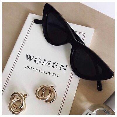 AYZA Cateye Katzenauge Fashion Sonnenbrille Damen Vintage Blogger Schwarz