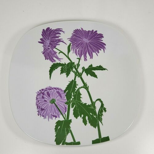 Block Langenthal Floral Portraits by Henry Evans Chrysanthemum Square Plate new