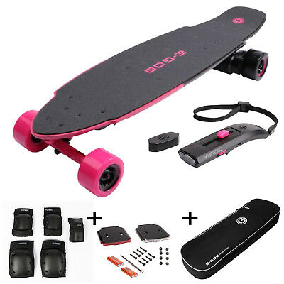 Yuneec YUN-0071 E-GO 2 Elektro Skateboard Royal Wave + Licht Tasche Knieschützer
