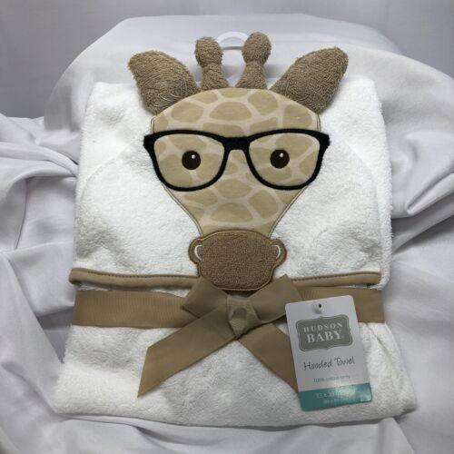 Hudson Baby Animal Face Hooded Towel - Giraffe
