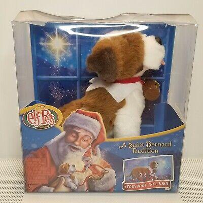 *NIB* Elf Pets - A Saint Bernard Tradition w/storybook incl - Elf on the Shelf